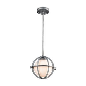 Aubridge Weathered Zinc 10-Inch One-Light Mini Pendant