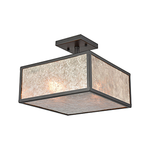 Stasis Oil Rubbed Bronze Two-Light Semi-Flush Mount