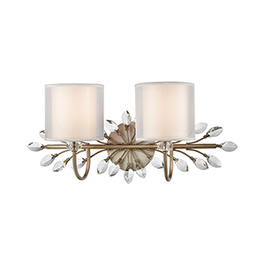 Asbury Aged Silver Two-Light Vanity Light