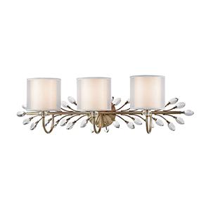 Asbury Aged Silver Three-Light Vanity Light
