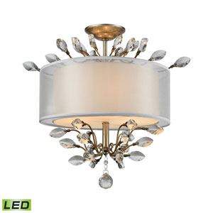 Asbury Aged Silver LED Semi Flush Mount