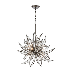 Naples Dark Graphite Eight-Light Pendant