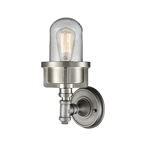 Briggs Weathered Zinc and Satin Nickel One-Light Wall Sconce