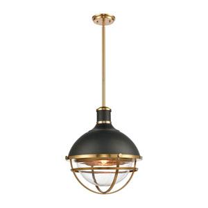 Jenna Matte Black and Satin Brass One-Light Pendant
