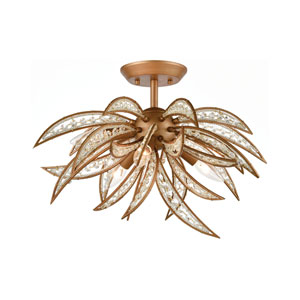 Naples Matte Gold Five-Light Semi Flush Mount