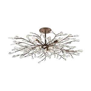 Crislett Sunglow Bronze Six-Light Semi Flush Mount