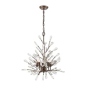 Crislett Sunglow Bronze Five-Light Chandelier