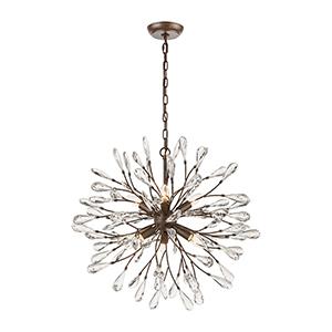 Crislett Sunglow Bronze Six-Light Chandelier