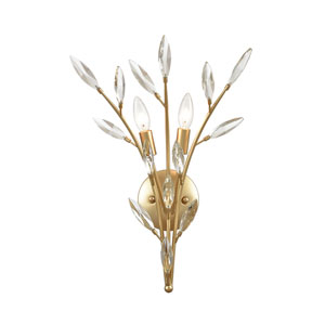 Flora Grace Champagne Gold Two-Light Wall Sconce