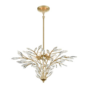 Flora Grace Champagne Gold Seven-Light Chandelier