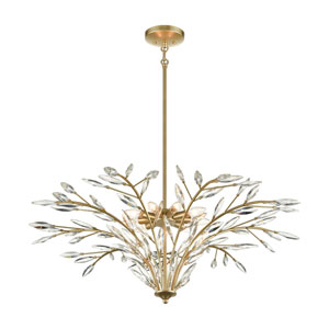 Flora Grace Champagne Gold Nine-Light Chandelier