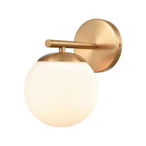 Hollywood Satin Brass One-Light Bath Vanity