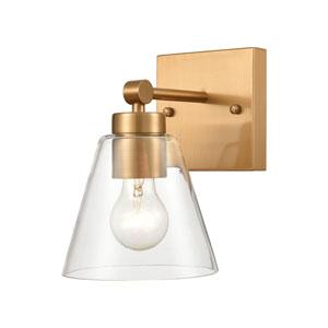 East Point Satin Brass One-Light Bath Vanity