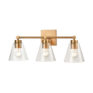East Point Satin Brass Three-Light Bath Vanity