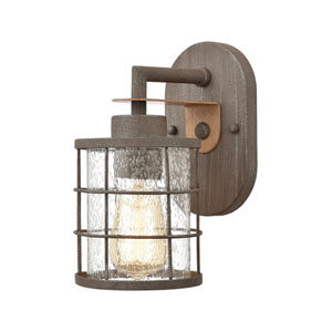 Gilbert Rusted Coffee and Light Wood One-Light Bath Vanity