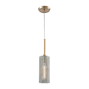 Compartir Satin Brass and Polished Nickel One-Light Mini Pendant