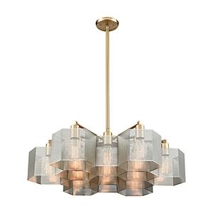 Compartir Polished Nickel and Satin Brass 13-Light Pendant