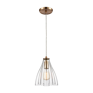 Matilda Satin Brass One-Light Mini Pendant