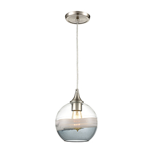 Sutter Creek Satin Nickel One-Light Mini Pendant