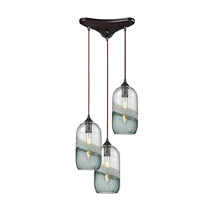 Sutter Creek Oil Rubbed Bronze 60W Three-Light Pendant