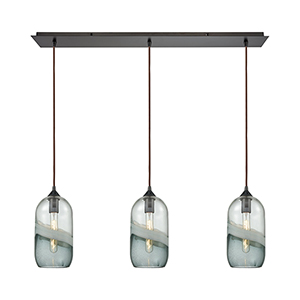 Sutter Creek Oil Rubbed Bronze Three-Light Pendant