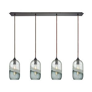 Sutter Creek Oil Rubbed Bronze Four-Light Pendant