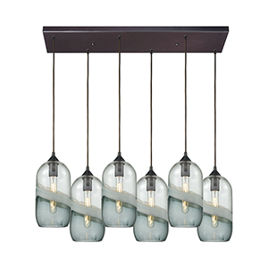 Sutter Creek Oil Rubbed Bronze Six-Light Pendant