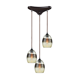 Whisp Oil Rubbed Bronze 60W Three-Light Pendant