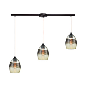 Whisp Oil Rubbed Bronze Three-Light Pendant
