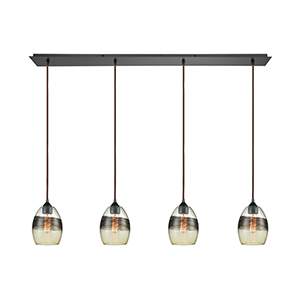 Whisp Oil Rubbed Bronze Four-Light Pendant