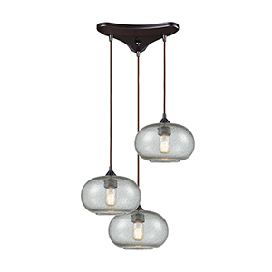 Volace Oil Rubbed Bronze 60W Three-Light Pendant