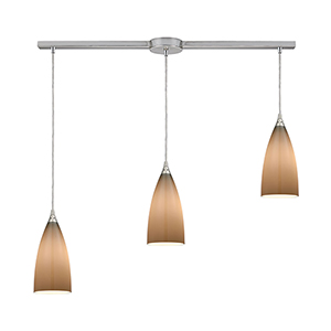 Vesta Satin Nickel Three-Light Pendant