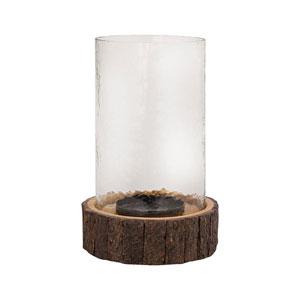 Ridgely Wood Six-Inch Hurricane Candle Holder