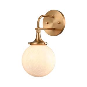 Beverly Hills Satin Brass One-Light Bath Vanity