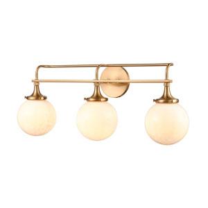 Beverly Hills Satin Brass Three-Light Bath Vanity
