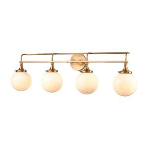 Beverly Hills Satin Brass Four-Light Bath Vanity