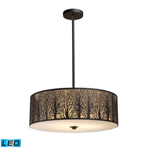Woodland Sunrise Aged Bronze 24-Inch LED Pendant