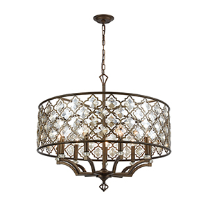 Armand Weathered Bronze Nine-Light Pendant