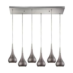 Lindsey Satin Nickel Six-Light Pendant