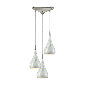 Lindsey Satin Nickel Three-Light Pendant