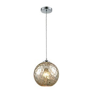 Watersphere Polished Chrome 100W One-Light Pendant