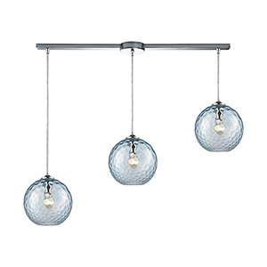 Watersphere Polished Chrome Three-Light Pendant