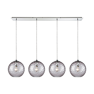 Watersphere Polished Chrome Four-Light Pendant
