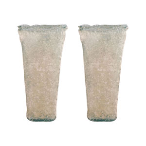 Inca Textured Smoke Vase, Set of Two