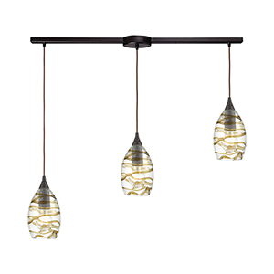 Vines Oil Rubbed Bronze Three-Light 36-Inch Pendant