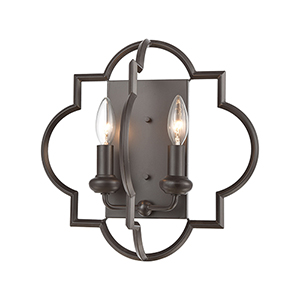 Chandette Oil Rubbed Bronze Two-Light Wall Sconce