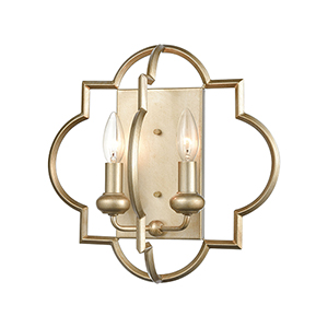 Chandette Aged Silver Two-Light Wall Sconce