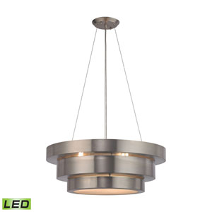 Layers Brushed Stainless LED Chandelier
