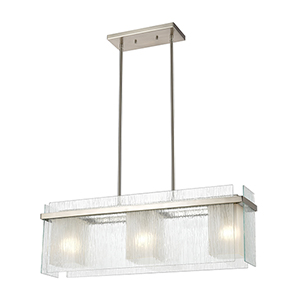 Vellis Satin Nickel Three-Light Pendant
