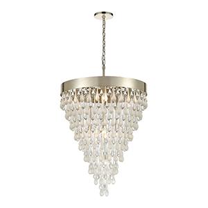 Silver Leaf 10-Light Pendant